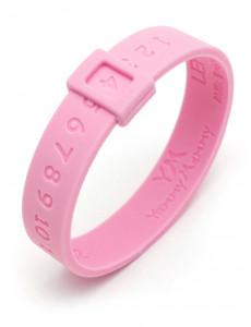 Молочный браслет розовый