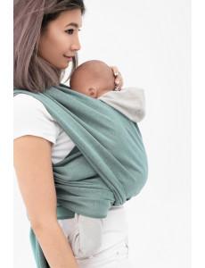 Слинг-шарф трикотажный двухсторонний зеленый/серый
