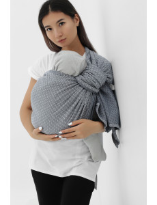 550.1.40 Слинг с кольцами из шарфовой ткани светло-серый/темно-серый