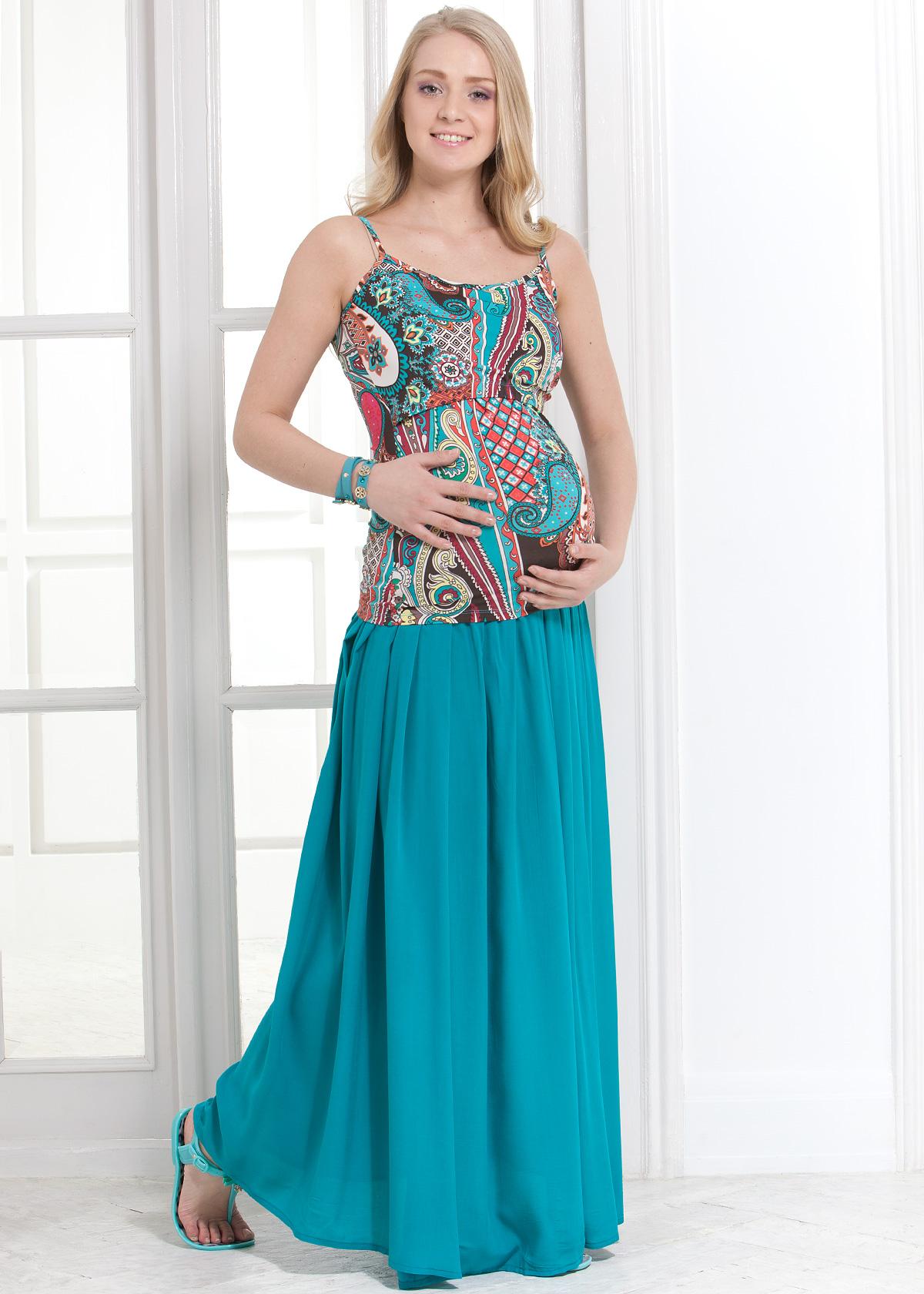 Длинные юбки на беременных 54